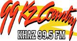 KHAZ 99.5 FM KZ Country